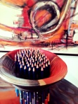 Soupe de crayons du jour - Intervención para Arte a cielo Abierto- 2014
