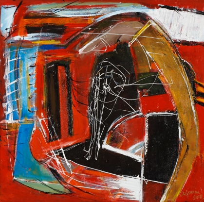 Take Five, Miles (2011) 60cm x 60cm Mixed Media on Canvas